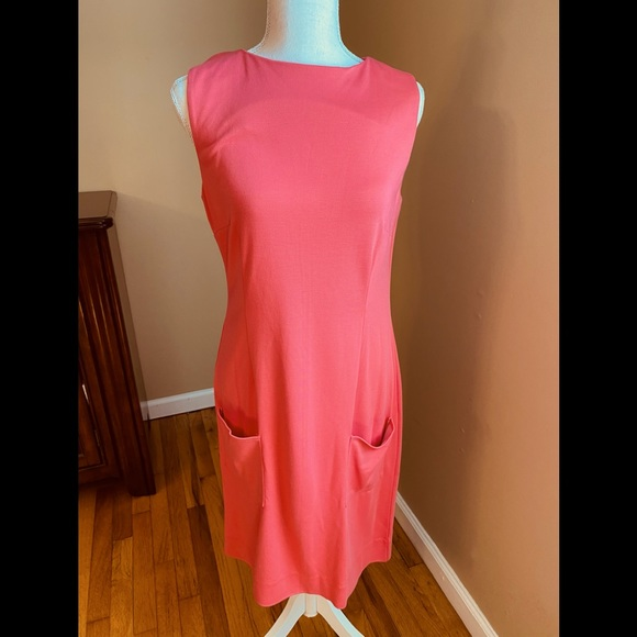 Lilly Pulitzer Solid Coral Color Dress Size Med